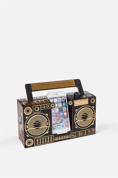 Boombox, BLACK/GOLD FOIL