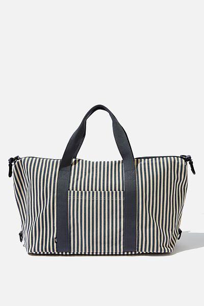 Transit Duffle Bag, NAVY STRIPE