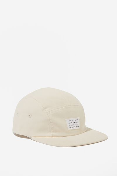 5 Panel Cap, NEUTRAL CANVAS/WEEKDAY STUDIO