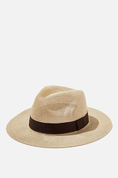 Wide Brim Summer Hat, OFF WHITE