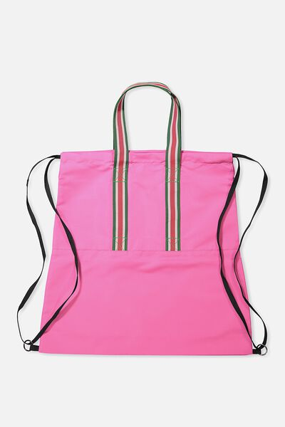 Daily Drawstring Backpack, MAGENTA PINK
