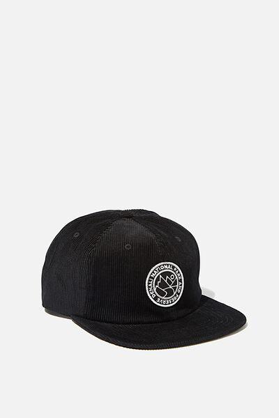 6 Panel Hat, BLACK CORDUROY/DENALI