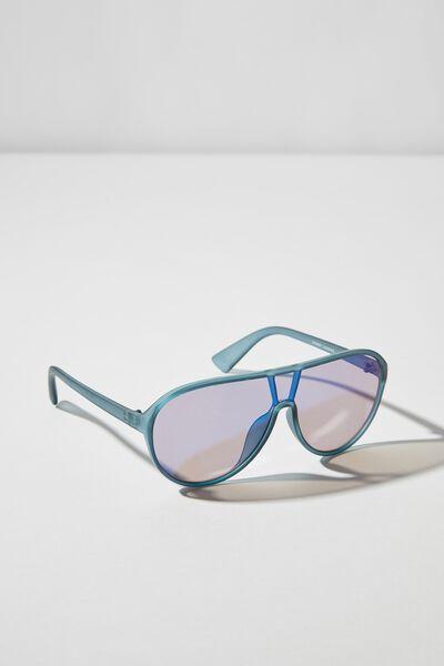 Summit Sunglasses, BLACK/BLUE