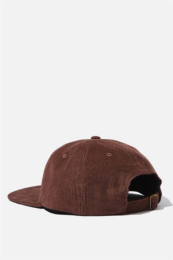6 Panel Hat, CHOCOLATE CORDUROY/UNION LABEL