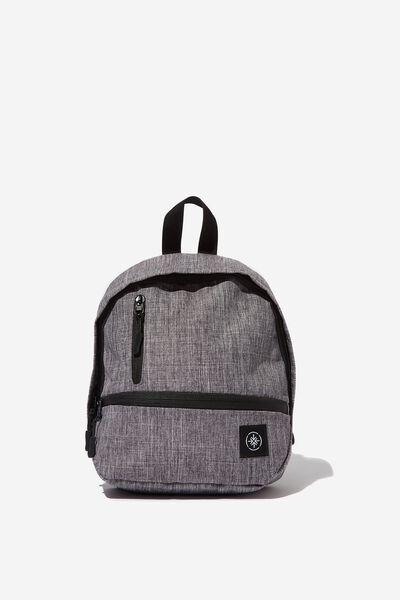Mini Me Transit Backpack, GREY CROSSHATCH