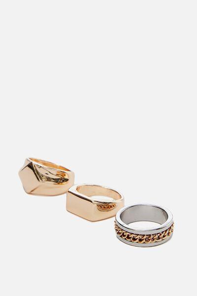 Rings 3 Pack, GOLD 2