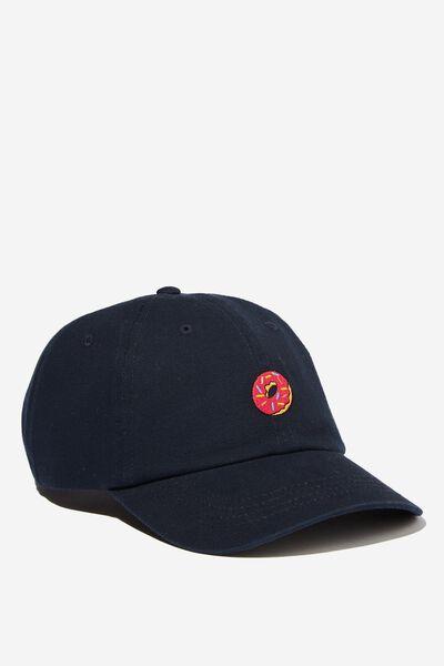Strap Back Dad Hat, LC FOX/NAVY DONUT