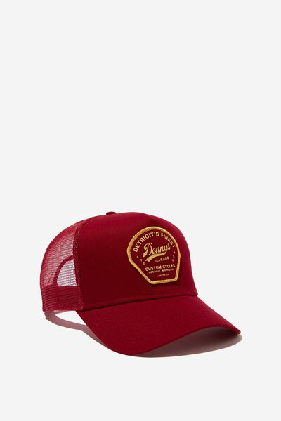Wicked Print Trucker, WASHED MAROON/DONNYS GARAGE