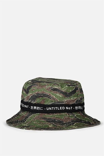 Bucket Hat, TIGER CAMO/UNTITLED NO 7