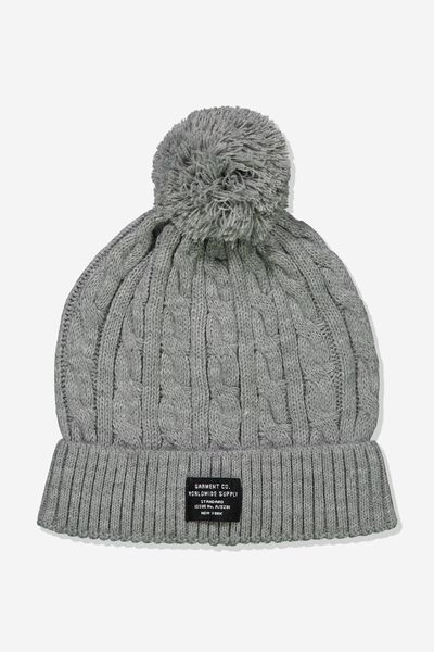 Alaska Beanie, GREY MARLE/WORLDWIDE SUPPLY