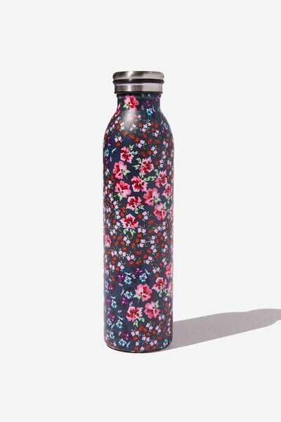 Transit Metal Drink Bottle, SPLICED FLORAL