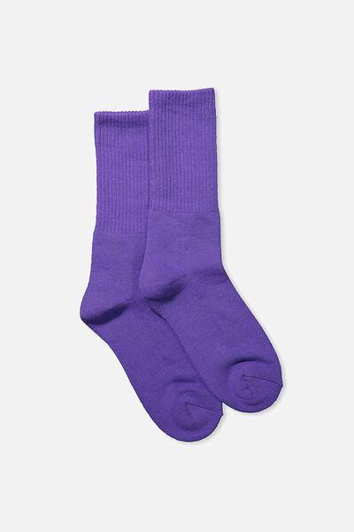 Single Pack Active Socks, PRISM VIOLET SOLID