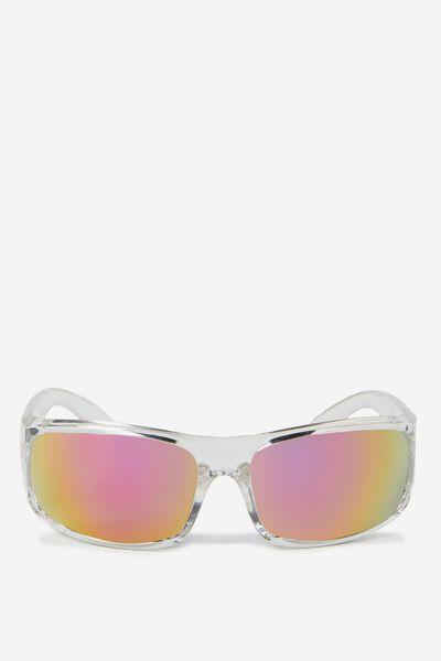 Chicago Sunglasses, CRYSTAL WHITE/PINK ORANGE