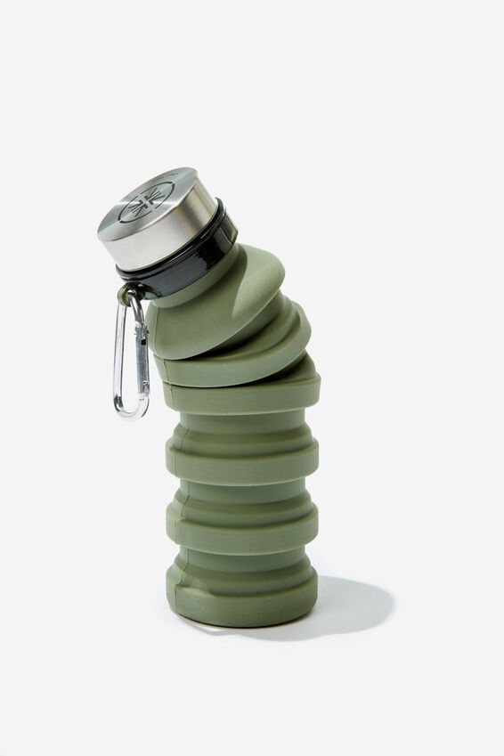 Collapsible Drink Bottle, HIKING GREEN