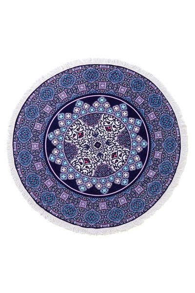 The Round Towel, PURPLE TILE