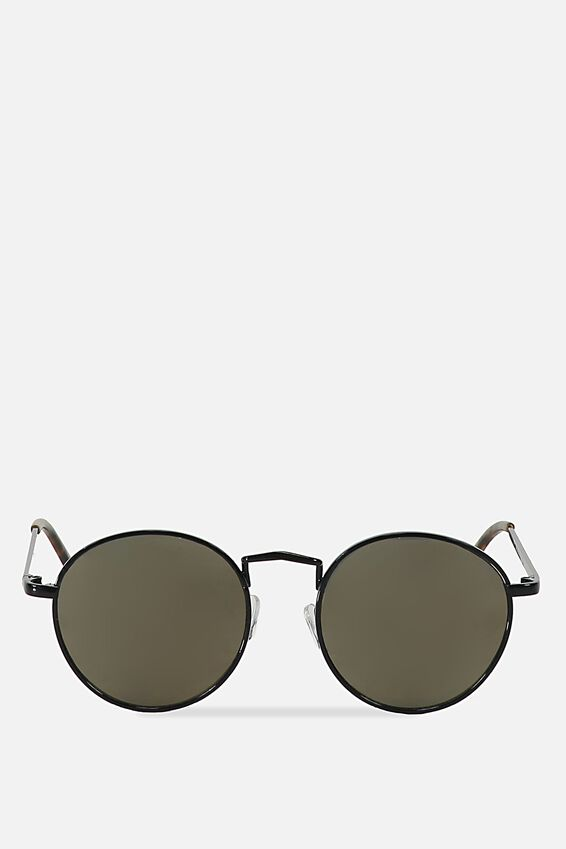 Columbus Sunglasses, BLACK/GREEN GOLD