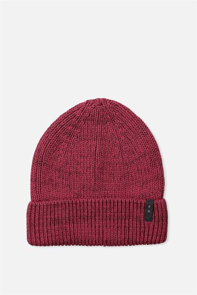 Biggie Beanie, RED MARLE/DOT TAB