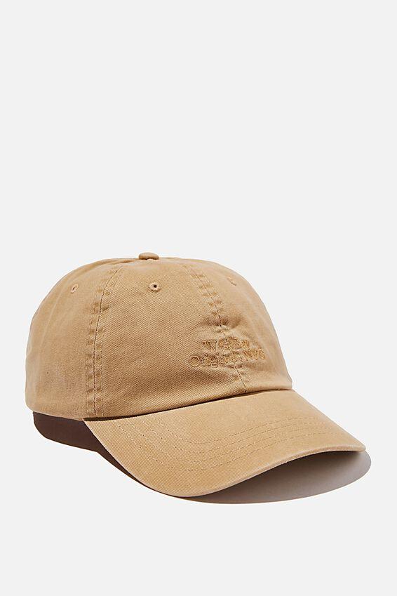 Strap Back Dad Hat, SANDSTONE/BROWN/WEST BAY NYC