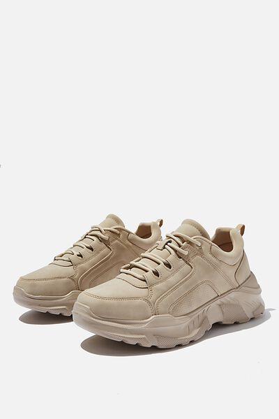 Felix Chunky Sneaker, TAUPE PU
