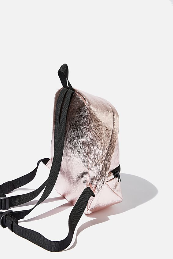 Transit Mini Backpack, ROSE GOLD PU