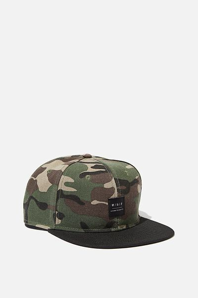 Art Snapback, CAMO/BLACK/LEISURE ETIQUETTE
