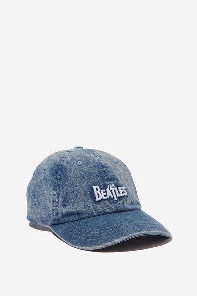 Strap Back Dad Hat, LC WASHED BLUE DENIM/THE BEATLES