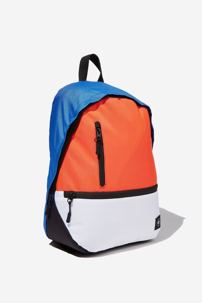 Personalised Transit Backpack, BLACK/RED/BLUE