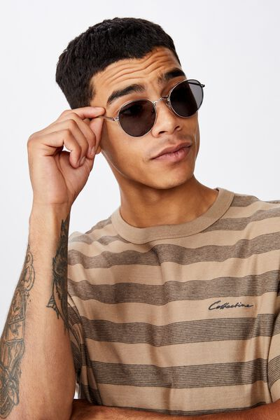 Bellbrae Sunglasses, SILVER/MATTE BLACK/SMOKE