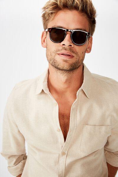 Manifold Sunglasses, TORT GLOSS/GREEN