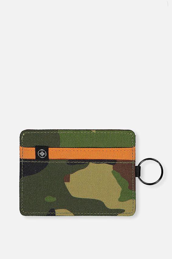 Card Wallet, WOODLAND CAMO CLASH