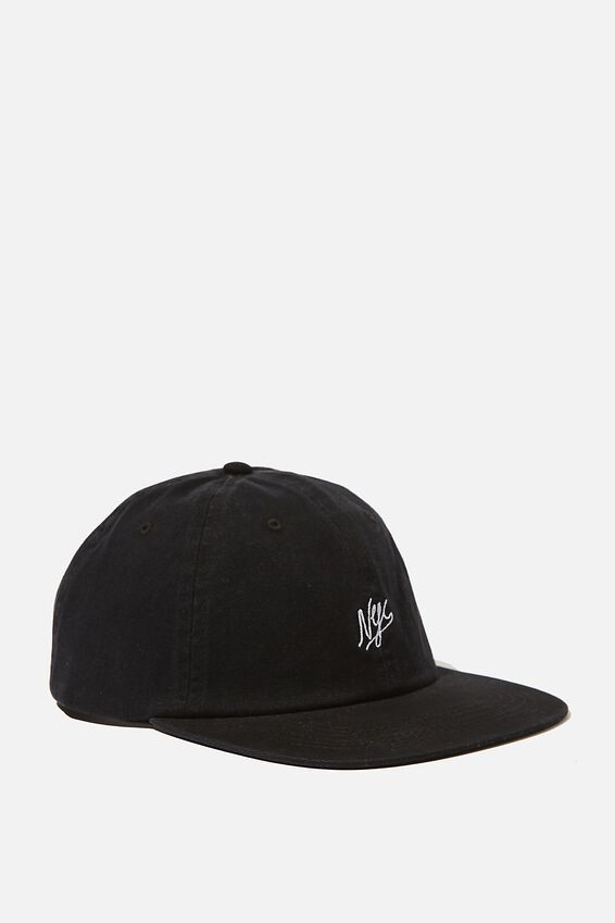6 Panel Hat, BLACK/NYC SCRIPT
