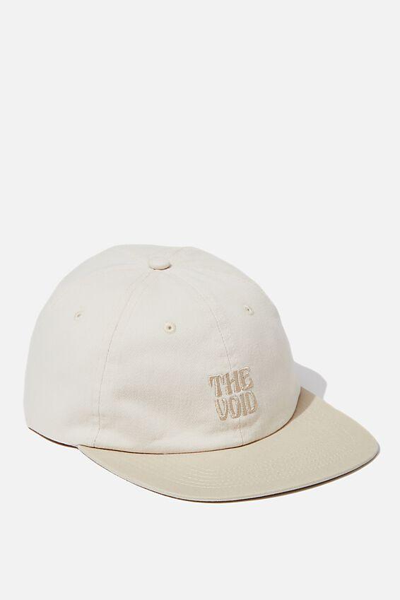 6 Panel Hat, ECRU/THE VOID