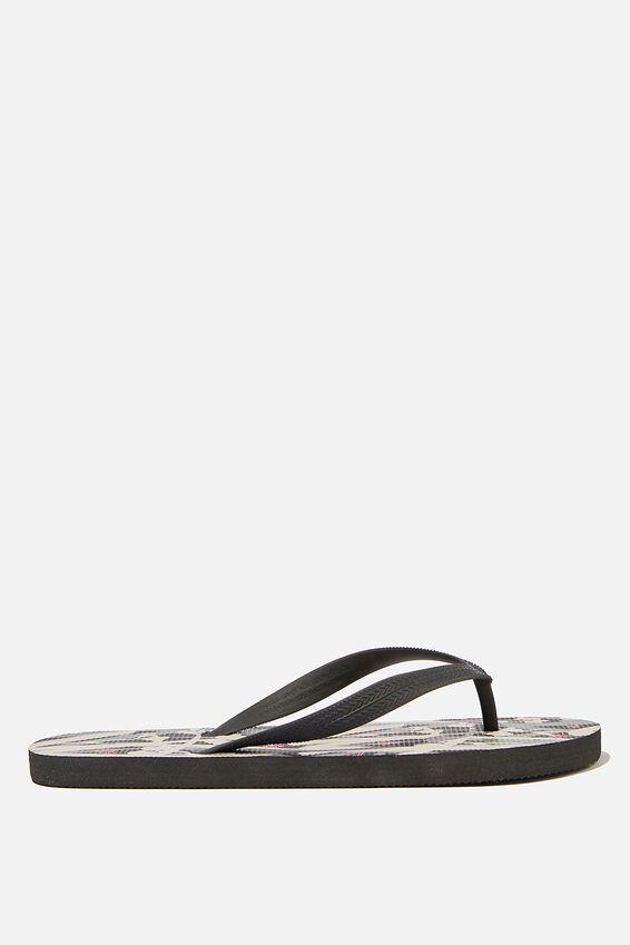 Bondi Flip Flop, BLACK/ABSTRACT REEDS