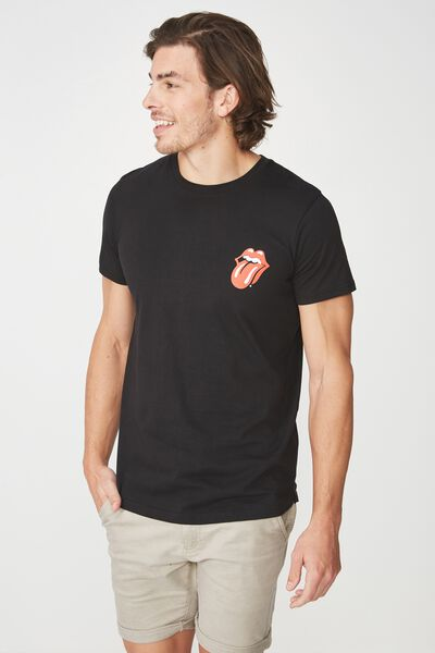 Scooped Lounge Tee, LC BLACK/ROLLING STONES