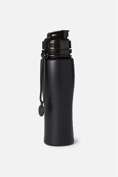 Silicone Drink Bottle, BLACK