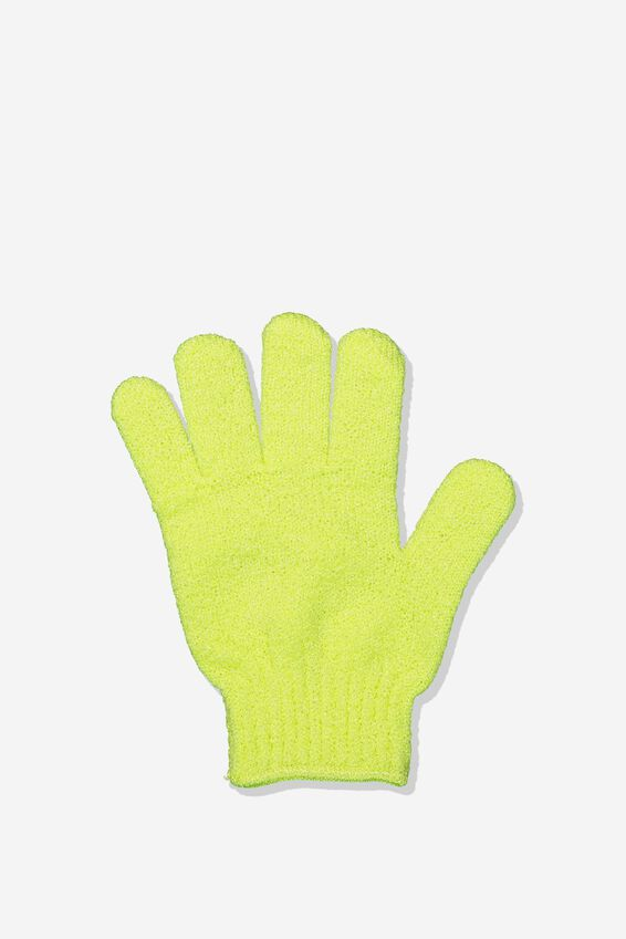 Exfoliator Mitt, BRIGHT LIME