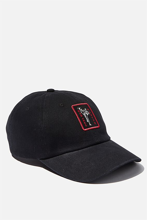 Strap Back Dad Hat, BLACK/BAD JOKE MASTER