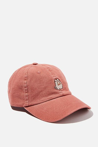 Special Edition Dad Hat, LCN PUSH DUSTY ROSE/PUSHEEN PIZZA
