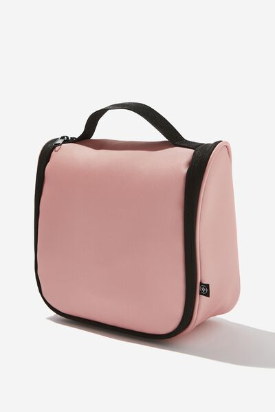 Hanging Travel Toiletry Bag, DUSTY BLUSH