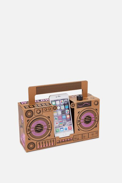 Boombox, NATURAL/PINK FOIL