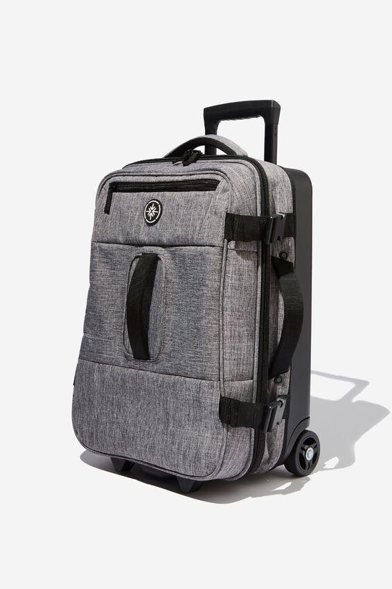 Sml Soft Suitcase, GREY CROSSHATCH