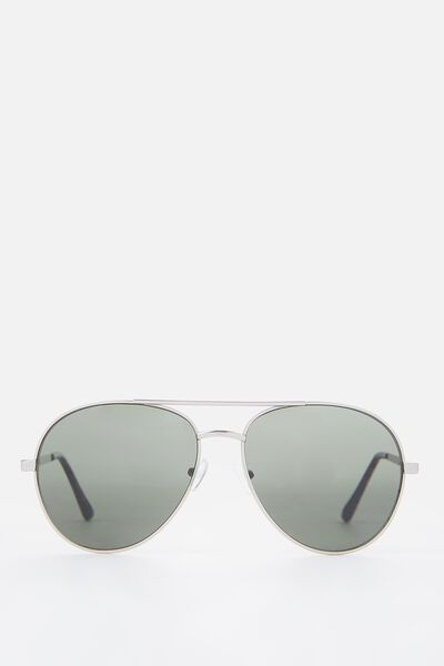 Simpson Sunnies, SILVER/ GREEN MONO