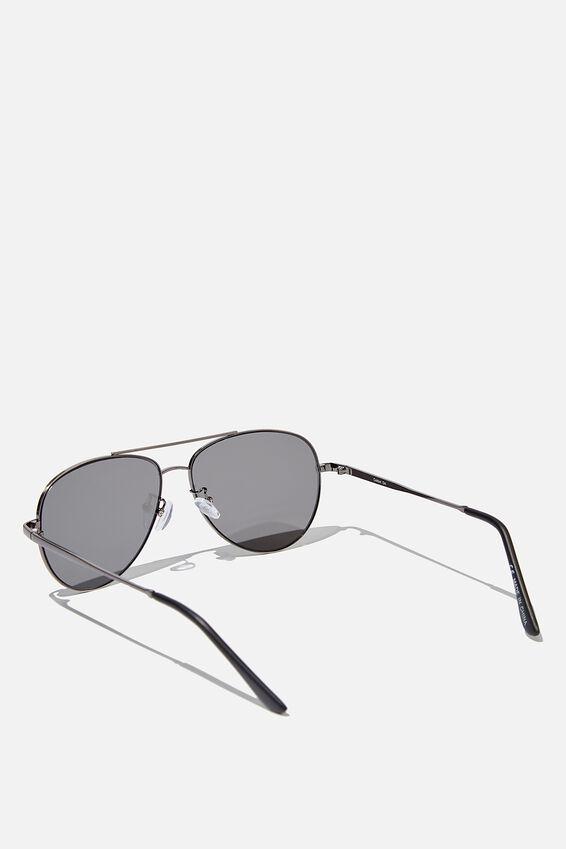 Marshall Sunglasses, SILVER/MATTE BLACK/SMOKE FLAT