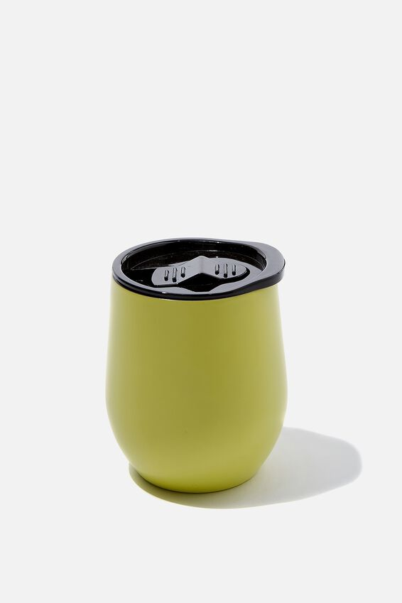 Small Metal Tumbler, BRIGHT LIME