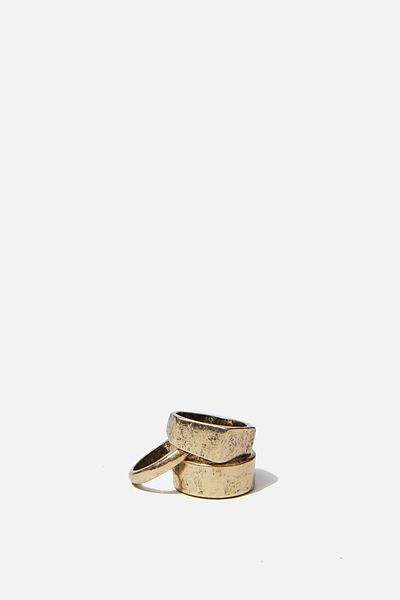 Rings 3 Pack, BURNISHED GOLD 1