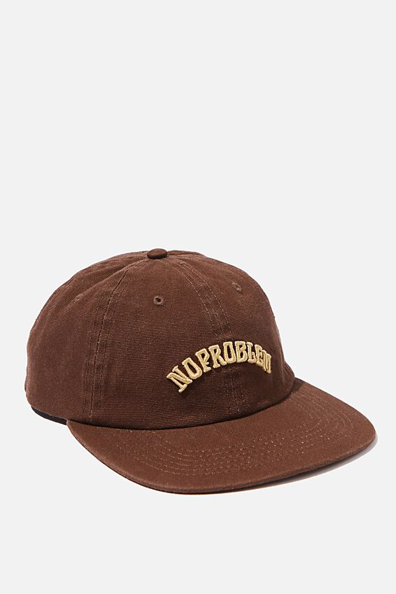 6 Panel Hat, CHOCOLATE/CAMEL/NO PROBLEM