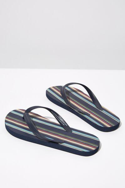 Bondi Flip Flop, NAVY/MULTI STRIPE