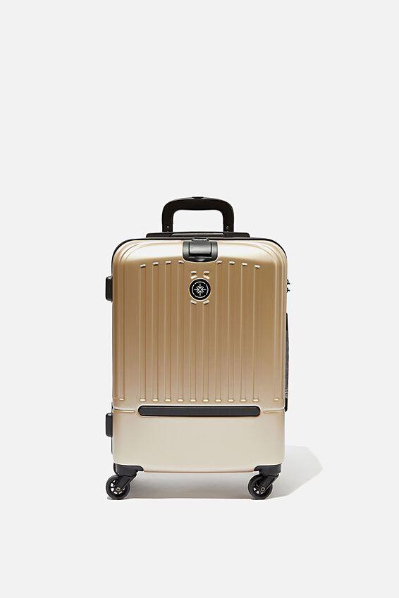 Sml 19Inch Hard Suitcase, GOLD METALLIC