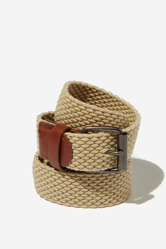Hampton Plait Belt, TAN/BROWN