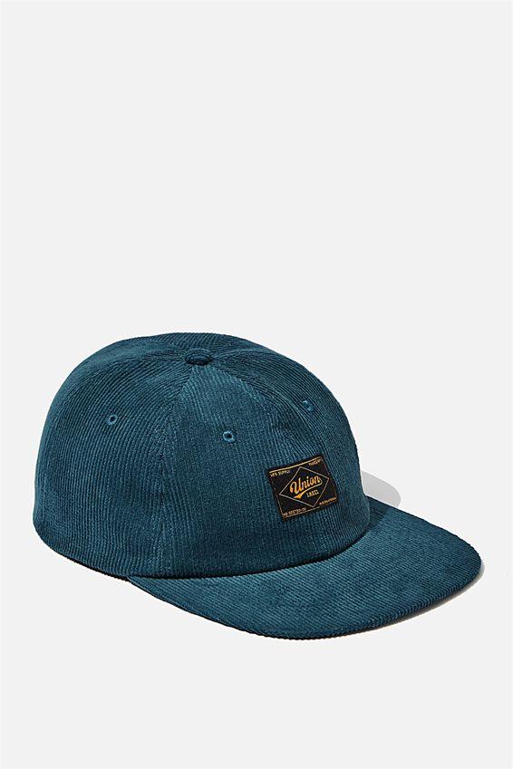 6 Panel Hat, DEEP BLUE/CORDUROY/UNION LABEL